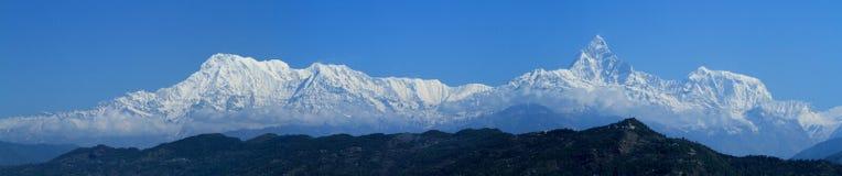 Annapurna område i Nepal Arkivbilder