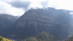 Annapurna panorama from Ghyaru stock video