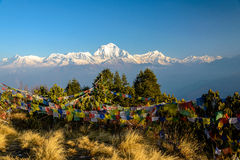 Annapurna panorama. View over Annapurna from Poonhill, Nepal Royalty Free Stock Images