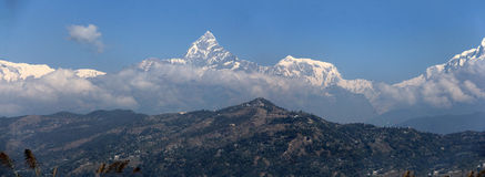 Annapurna panoramisch lizenzfreie stockbilder