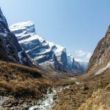 Annapurna podstawowy obóz w Nepal Obrazy Royalty Free