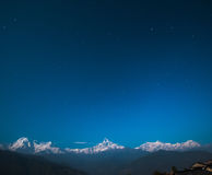 Annapurna range with Fishtail Mountain Stock Images