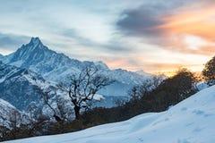 Annapurna range landscape, Nepal. An annapurna range landscape, Nepal royalty free stock photo
