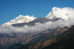 Annapurna Range of Mountains Royalty Free Stock Photos