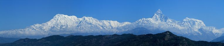 Annapurna Range in Nepal Stock Images