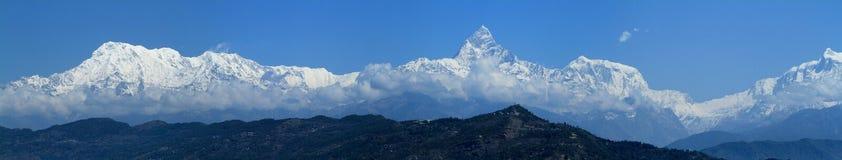 Annapurna Range in Nepal. At pokhara stock photos
