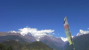 The Annapurna range in Nepal stock footage