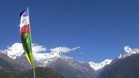 The Annapurna range in Nepal stock video