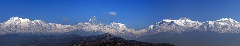 Annapurna range: Panorama Stock Photography