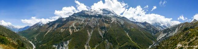 Annapurna range panorama from Khangsar, Nepal Stock Photography
