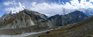 Annapurna Range panorama from Tilicho base camp, Nepal Stock Photo