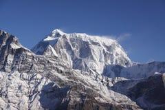 Annapurna Range. In Pokhara, Nepal royalty free stock photography