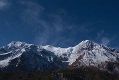 Annapurna range view Stock Photography