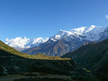 Annapurna range from Yak Kharka, Nepal Stock Images
