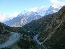 Annapurna range from Yak Kharka, Nepal Stock Image