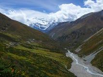 Annapurna range from Yak Kharka, Nepal Royalty Free Stock Images