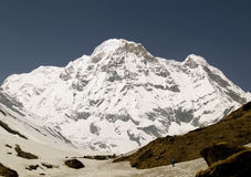 Annapurna Süd stockfotografie