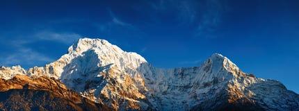 Annapurna Süd am Sonnenaufgang Lizenzfreies Stockbild