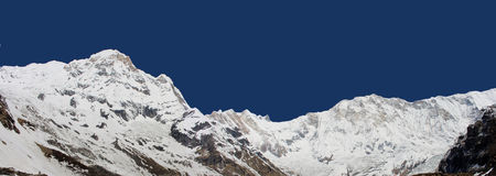 Annapurna South & Annapurna I Stock Photography