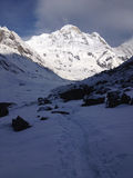 Annapurna South and base camp - Nepal royalty free stock photos