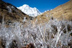 Annapurna South, Himalaya, Nepal. Mountain landscape, Annapurna South, Himalaya, Nepal Royalty Free Stock Image