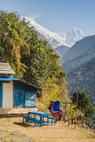 Annapurna South and Hiunchuli Stock Photography