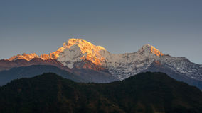 The Annapurna South and the Hiunchuli Stock Photos