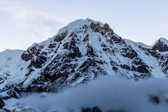 Annapurna South looking up stock image