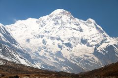 Annapurna south from mount Annapurna base camp, Nepal Stock Photos