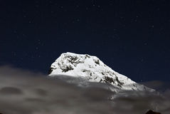 Annapurna South at night,Nepal Royalty Free Stock Photos