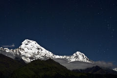 Annapurna South at night,Nepal Royalty Free Stock Image