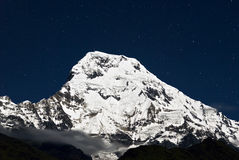 Annapurna South at night,Nepal Stock Photos