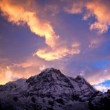 Annapurna South peack, Nepal Stock Image
