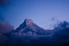 Annapurna south peak. Sunrise at Annapurna south peak, nepal Stock Image