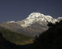Annapurna South Peak. Along the Annapurna Trail Stock Photography