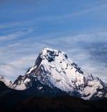 Annapurna South peak on Annapurna Circuit trek, Nepal royalty free stock photos