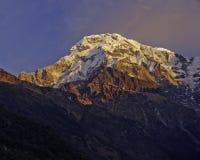 Annapurna South Peak. Annapurna Base Camp Trek, Nepal Stock Photos