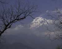 Annapurna South Peak. In the Annapurna Conservation Area stock photos