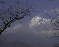 Annapurna South Peak. In the Annapurna Conservation Area Stock Photos