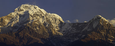Annapurna South Peak and Hiunchuli. Peak in the Annapurna Conservation Area, Nepal Stock Images