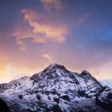 Annapurna South peak sunset Stock Images