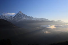 Annapurna South from Tadopani Nepal Royalty Free Stock Images