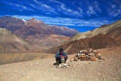 Annapurna-Stromkreiswanderung, Nepal Stockfoto