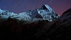 Annapurna sul, Himalaya, Nepal Imagem de Stock