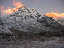 Annapurna at sunrise Stock Photos