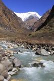 Annapurna Tal Stockfoto
