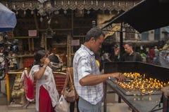 Annapurna Temple at Asan Tole in Kathmandu Stock Photos