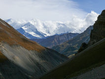 Annapurna - from Thorong High Camp, Nepal Royalty Free Stock Photo