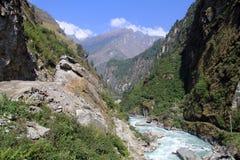 Annapurna trail Royalty Free Stock Photo