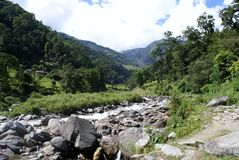 Annapurna trekking Royalty Free Stock Image